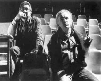 Лев Додин и Эдуард Кочергин на репетиции перед премьерой «Бесов» в Брауншвейге. 1991
