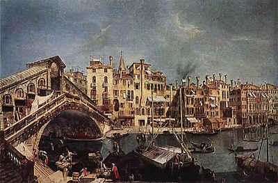 Микеле Мариески.  Мост Риальто в Венеции. Ок. 1740. Эрмитаж, Санкт-Петербург