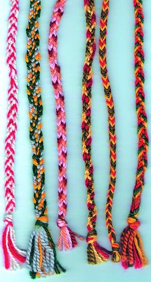 Плетение поясов и тесьмы