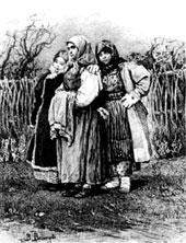Подружки. 1878. Государственная Третьяковская галерея, Москва