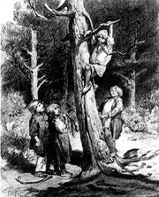 Дети разоряют гнезда. Начало 1870х. Государственная Третьяковская галерея, Москва