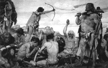Каменный век. Фрагмент. 1885. Государственный исторический музей, Москва