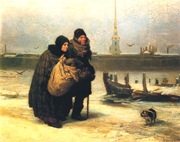 С квартиры на квартиру. 1876. Государственная Третьяковская галерея, Москва