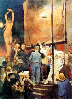 Акробаты (На празднике в окрестностях Парижа). 1877. Государственный Русский музей, Санкт-Петербург