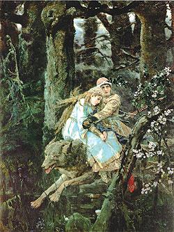 Иван Царевич на Сером волке. 1889. Государственная Третьяковская галерея, Москва