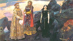 Три царевны подземного царства. 1884. Киевский музей русского искусства