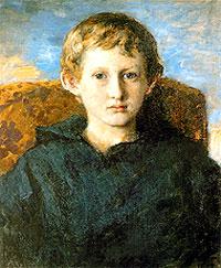 Портрет Бориса Васнецова, сына художника. 1889. Государственная Третьяковская галерея, Москва