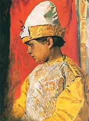 В костюме скомороха. 1882. Государственная Третьяковская галерея, Москва