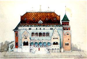 Русский павильон на Парижской выставке. Проект. 1898. Дом-музей В.М. Васнецова, Москва