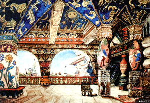 Палаты царя Берендея. Эскиз декорации для оперы «Снегурочка». 1885. Государственная Третьяковская галерея, Москва