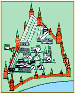 Соборная площадь кремля схема фото 626