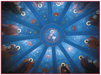 «Небо» в часовне в деревне Зехново