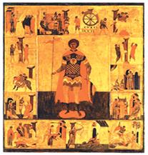 Св. Георгий в житии. Первая половина XVI в.
