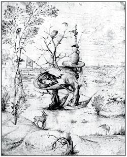 Человек-дерево в ландшафте. Музей Альбертина, Вена