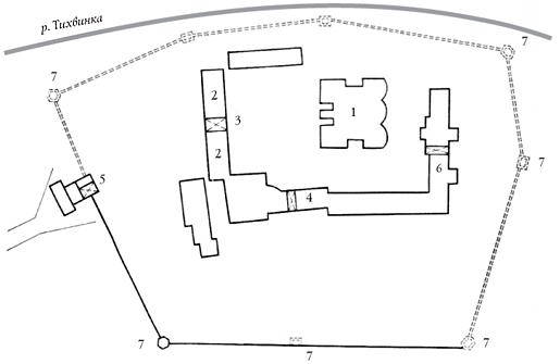 Фрагмент плана Тихвинского